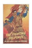 Filipino Freedom Fighter Poster Reproduction procédé giclée