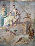 Italy, Naples, Naples Museum, from Pompeii, Prince of Montenegro House VII, Hercules and Omphale Photographic Print by Samuel Magal