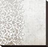 Lace Fresco II Stretched Canvas Print by Mali Nave