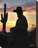 Arizona Cowboy Stretched Canvas Print by Barry Hart