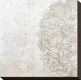 Lace Fresco I Stretched Canvas Print by Mali Nave