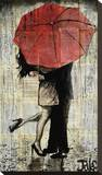 The Red Umbrella Kunst op gespannen canvas van Loui Jover