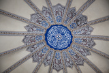 Turkey, Istanbul, Blue Mosque, Decorated Dome with Arabic Writing Fotografisk trykk av Samuel Magal