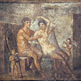 Italy, Naples, Naples Museum, from Pompeii, House of Meleager (VI 9, 2.13), Ares and Aphrodite Photographic Print by Samuel Magal