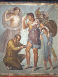 Italy, Naples, Naples Museum, from Pompeii, House of Siricus (VII, 1, 47), Lapyx and Aeneas Reproduction photographique par Samuel Magal