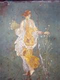 Italy, Naples, Naples Museum, from Stabia, Villa of Varanus or Ariadne, Flora (Khloris) Fotografisk tryk af Samuel Magal