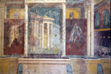 Italy, Naples, Naples Museum, from Pompeii, House IV,  Insula Occidentalis 41, Panel Fotografisk tryk af Samuel Magal