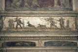 Italy, Naples, Naples Museum, from Pompeii, House of Meleager (VI 9), Stucco Policromo (Polychrome) Fotografisk tryk af Samuel Magal