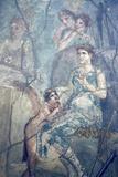 Italy, Naples, Naples Museum, Pompeii, House of L. Cornelius (VII 12, 26), Artemide and Calisto Fotografisk tryk af Samuel Magal