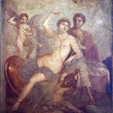 Italy, Naples, Naples Museum, from Pompeii, House of Mars an Venus (VII, 9, 47), Mars and  Venus Fotografisk tryk af Samuel Magal