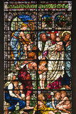 England, Salisbury, Salisbury Cathedral, Stained Glass Window, Jesus with Children Photographic Print by Samuel Magal