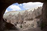 Turkey, Cappadocia, Goreme Valley, Zelve, Open Air Museum, Rock Dwelling Photographic Print by Samuel Magal