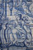 Portugal, Porto, The Church of Saint IIdefonso, Ceramic Tiles (Azulejo) Stampa fotografica di Samuel Magal