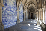 Portugal, Porto, The Church of Saint IIdefonso, Fan Vaulted Cloister with Ceramic Tiles (Azulejo) Photographic Print by Samuel Magal