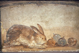Italy, Naples, Naples Museum, from Herculaneum, House of Stag, Rabbit and Figs Fotografisk tryk af Samuel Magal