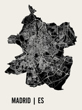 Madrid Kunstdrucke von  Mr City Printing