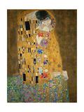 Suudelma, n. 1907 Julisteet tekijänä Gustav Klimt