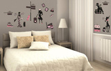 Haute Couture Wall Decal Sticker Adesivo de parede