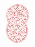 Venn by Pen: You, Me, Forever Poster Arte por  Satchel & Sage