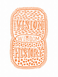 Venn by Pen: Vision, History, Wisdom Poster Stampe di  Satchel & Sage