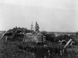 Noatak Home Photographic Print by Edward S. Curtis