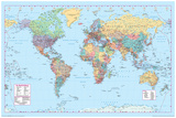 World Map 2 Affischer