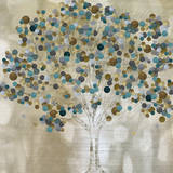 A Teal Tree Poster von Katrina Craven