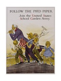 Follow the Pied Piper United States School Garden Poster Giclee Print