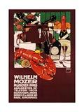 Wilhelm Mozer Poster Gicléetryck av Ludwig Hohlwein