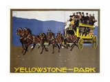 Yellowstone-Park Poster Gicléetryck av Ludwig Hohlwein