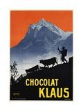 Chocolat Klaus Poster Giclee Print by Carl Moos