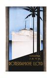 Rotterdamsche Lloyd Poster Gicléetryck av Johann Von Stein