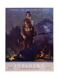 Infantry Recruitment Poster Giclee Print by Jes Schlaikjer