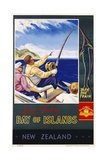 Bay of Islands New Zealand Poster Giclee Print