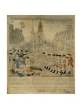 The Boston Massacre Engraving Giclee Print by Paul Revere