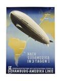Nach Sudamerika in 3 Tagen! Poster Giclée-Druck von Ottomar Anton