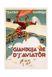Gianduja Re D'J'Aviator Poster Giclee Print by Carlo Nicco
