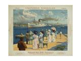 Calendrier Marseillais Travel Poster Giclee Print by David Dellepiane