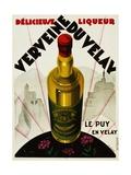 Verveine Duvelay Liqueur Advertisement Poster Giclée-vedos tekijänä Max Ponty