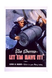Sub Spotted - Let 'Em Have It! U.S. Navy Recruitment Poster Stampa giclée di McClelland Barclay