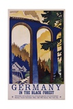 Germany in the Black Forest Poster Giclee-trykk av Friedel Dzubas