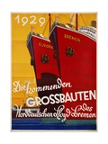 Die Kommenden Grossbauten Poster Giclee Print by Bernd Steiner