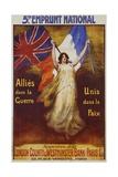 Allies Dans La Guerre Poster Giclee Print by Firmin Bouisset