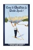 Austria for Winter Sports Poster Lámina giclée