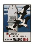 Baltische Ausstellung - Schweden Malmo Travel Poster Gicléetryck av Ernst Norlind