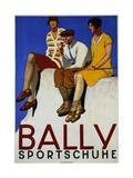 Bally Sportschuhe Poster Gicléetryck av Emil Cardinaux