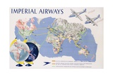 Imperial Airways Poster Reproduction procédé giclée par James Gardner
