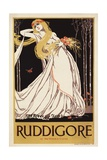 English Art Nouveau Poster for Ruddigore Reproduction procédé giclée