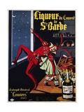 Liqueur Du Convent De Ste. Barbe Poster Giclée-tryk af L. Conchon
