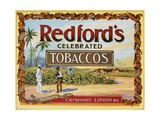 Advertisement Label for Redford's Celebrated Tobaccos Giclee Print